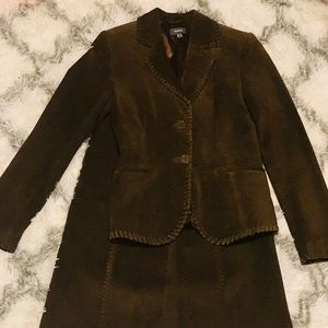 Skirt Suit Suede